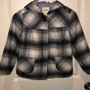 Swing plaid wool coat lined